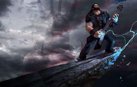 brutal legend game fantasy warrior  guitar