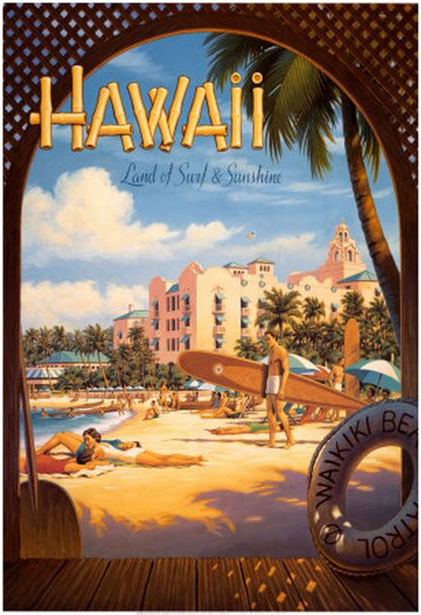 kerne erickson hawaii poster cartazes de surf arte