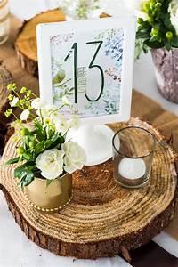 Deco Bois Et Blanc : num ro de table mariage th me nature bois vert et blanc d coration il etait une fleur ~ Melissatoandfro.com Idées de Décoration