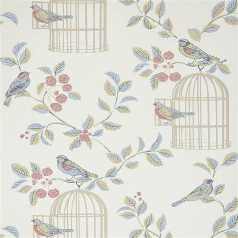 shabby chic fabrics songbird wallpaper eau de nil songbirdwpedn iliv shabby chic eau de nil fabrics