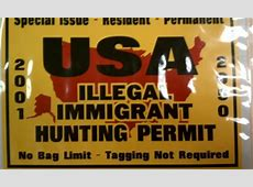 Store stops selling 'illegal immigrant hunting permit