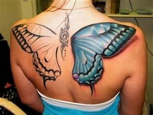 best tattoos, big butterfly back tattoo - Dump A Day