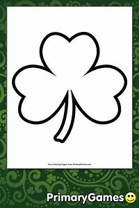 Christmas Card Outline Simple Shamrock Outline Coloring Page Printable St