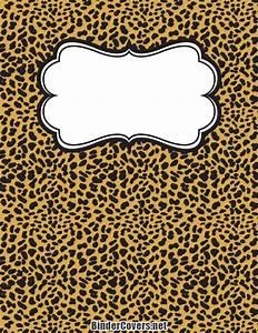 3 Ring Binder Template Printable Cheetah Print Binder Cover