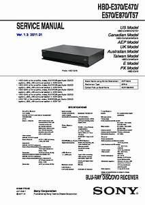 Sony Bdv-e570 Service Manual