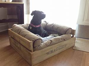 diy comfy crate dog bed just write the name on with a With soft dog kennel beds