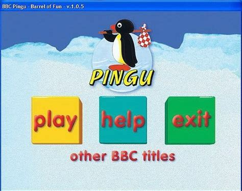 Pingu A Barrel Of Fun! (pc Cd) 5 Puzzles, 5 Games And 5