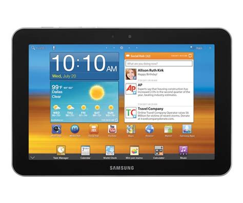 samsung android tablet samsung galaxy tab 8 9 android tablet now available for