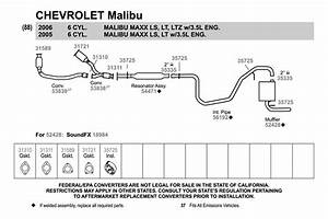 2005 Chevy Malibu Exhaust System Diagram 3476 Julialik Es