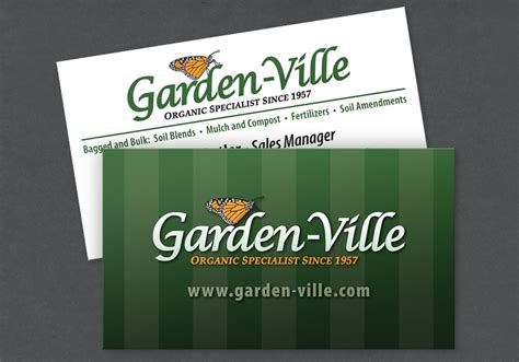garden ville business card design portfolio colored bean
