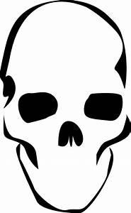 Simple A3 printable skull stencil | Stencil Art ...