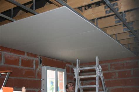 pose du plafond placo le de frederic