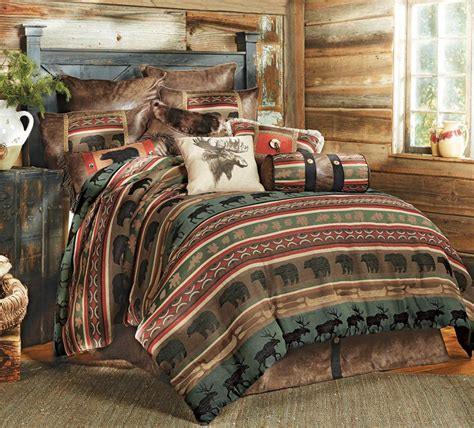 coordinating throw pillow for rustic bedding sets lodge log cabin bedding