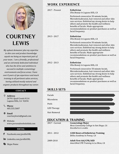 principled beige core functional resume  columns