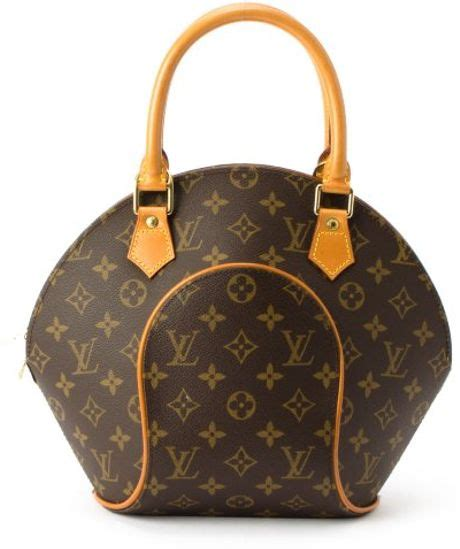 louis vuitton brown monogram canvas ellipse pm vintage top