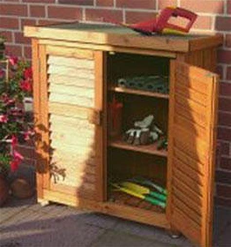 Leco Gartenschrank Geräteschrank Garten Holz Aufbewahrung
