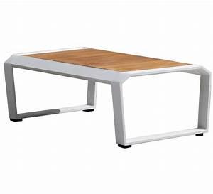 Table Basse Salon De Jardin : table basse de jardin blanche teck alu miami 209 salon d 39 t ~ Teatrodelosmanantiales.com Idées de Décoration