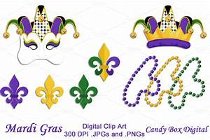 Mardi Gras Clip Art ~ Illustrations on Creative Market