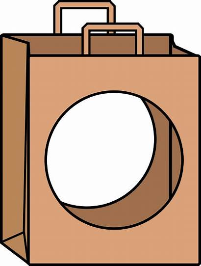 Hole Clipart Bag Vector Shopping Clip Paper