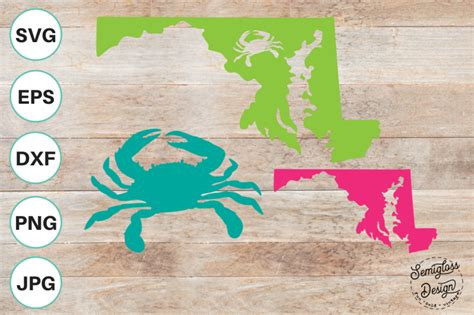 1,000+ vectors, stock photos & psd files. Free Maryland and Crab Design Cut Files Crafter File ...