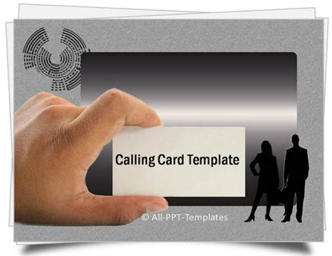 powerpoint business card powerpoint calling card template