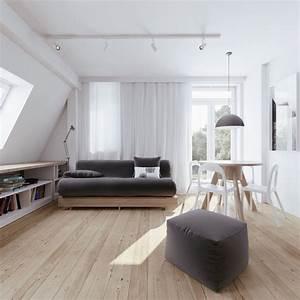 Minimalist, Apartment, Design, With, Soft, Color, Scheme