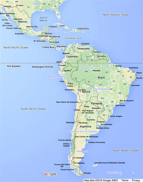 mexico and south america map roundtripticket me
