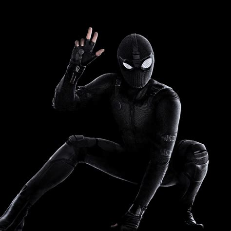 wallpaper spider man   home black suit stealth