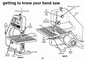 Bandsaw Parts List And Manual For Craftsman 10 U0026quot  Direct