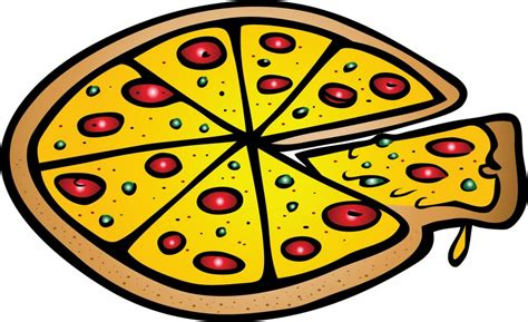 Vector Italian Pizza On White Background