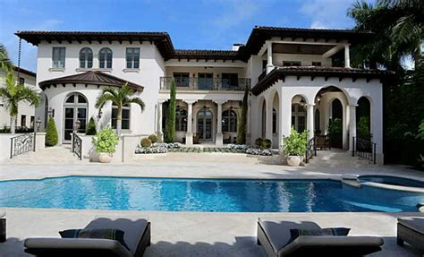 22 95 million newly built waterfront mansion in miami beach fl homes of the rich