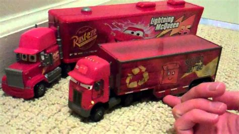 Disney Cars Jerry Recycled Batteries Peterbilt Semi Truck