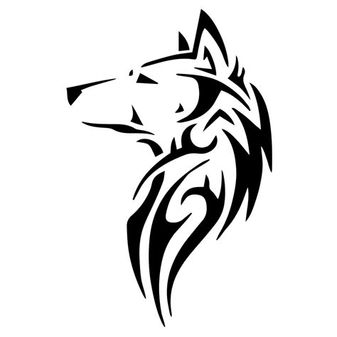 tribal wolf silhouette vinyl sticker car decal