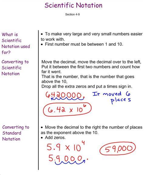 scientific notation 7th grade pre algebra mr burnett