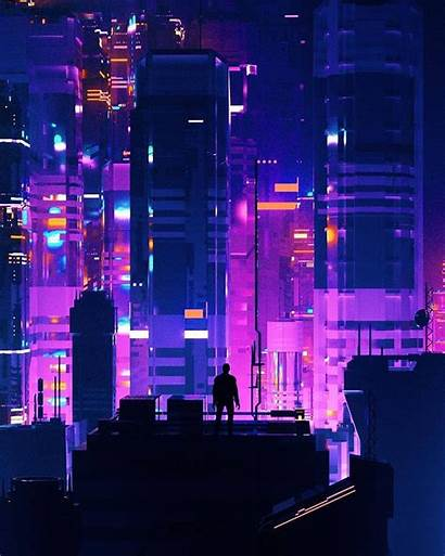 Neo Tilted Wallpapers Cyberpunk Towers Sunset Header