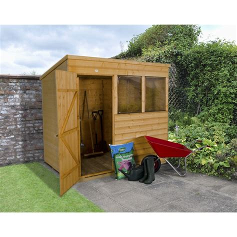 Shiplap Or Tongue And Groove Shed - 7 x 5 2 1m x 1 5m shiplap tongue and groove pent shed
