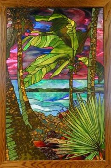 custom stained glass window  etched  mosaic