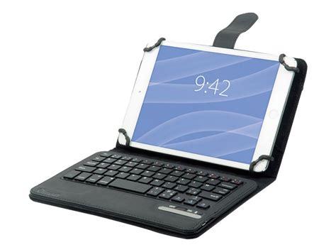 calculatrice bureau muvit étui universel noir avec clavier bluetooth azerty
