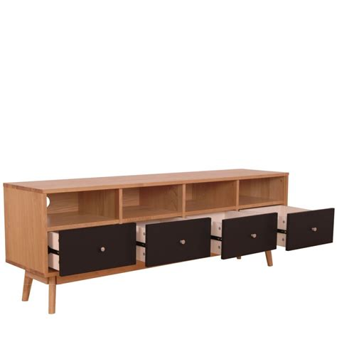 canape gris design meuble tv scandinave 4 tiroirs skoll by drawer