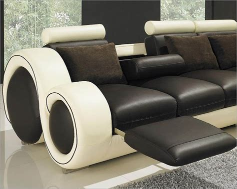 two tone leather sectional sofa modern two tone leather sectional sofa set with recliners