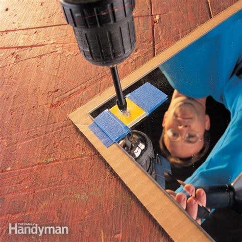 drill  hole  glass  family handyman