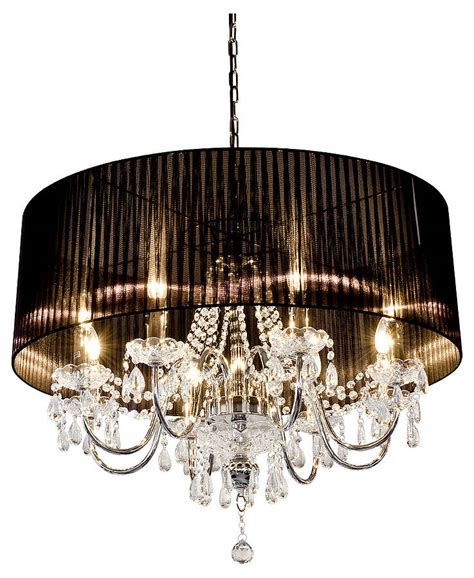 shaded chandelier large shaded chandelier by the luxe co