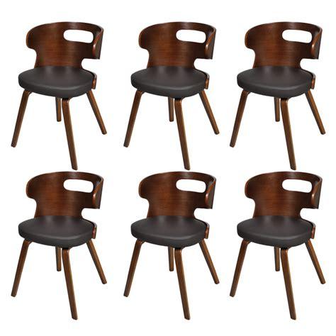 lot de 6 chaises de salle a manger la boutique en ligne lot de 6 chaises de salle 224 manger en cuir m 233 lang 233 brun vidaxl fr