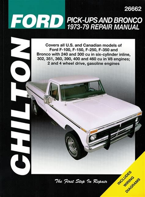 auto manual repair 1996 ford f150 regenerative braking ford f100 f150 f250 f350 bronco repair manual 1973 1979 chilton