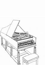 Harpsichord Coloring Pages Did Know Inside Baroque Music Colouring Colour Sketch Handel Outside sketch template
