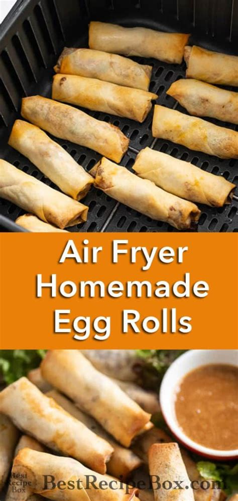 egg rolls air fryer homemade recipe easy pork beef chicken recipes