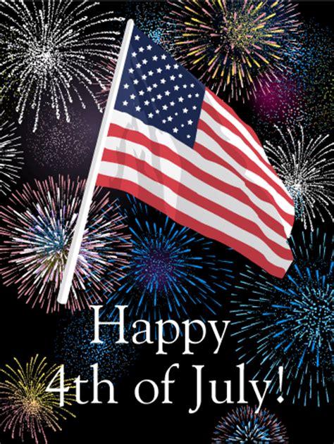 july fireworks greeting card birthday greeting