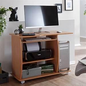 Computertisch Auf Rollen : laptoptisch computertisch buche rollen schreibtisch ~ Watch28wear.com Haus und Dekorationen
