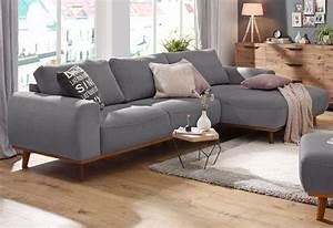 Graues Sofa Kombinieren : home affaire ecksofa gabrielle mit holzrahmen im ~ Michelbontemps.com Haus und Dekorationen