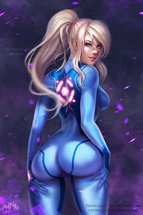 samus ~ metroid fan art by prywinko nerd porn